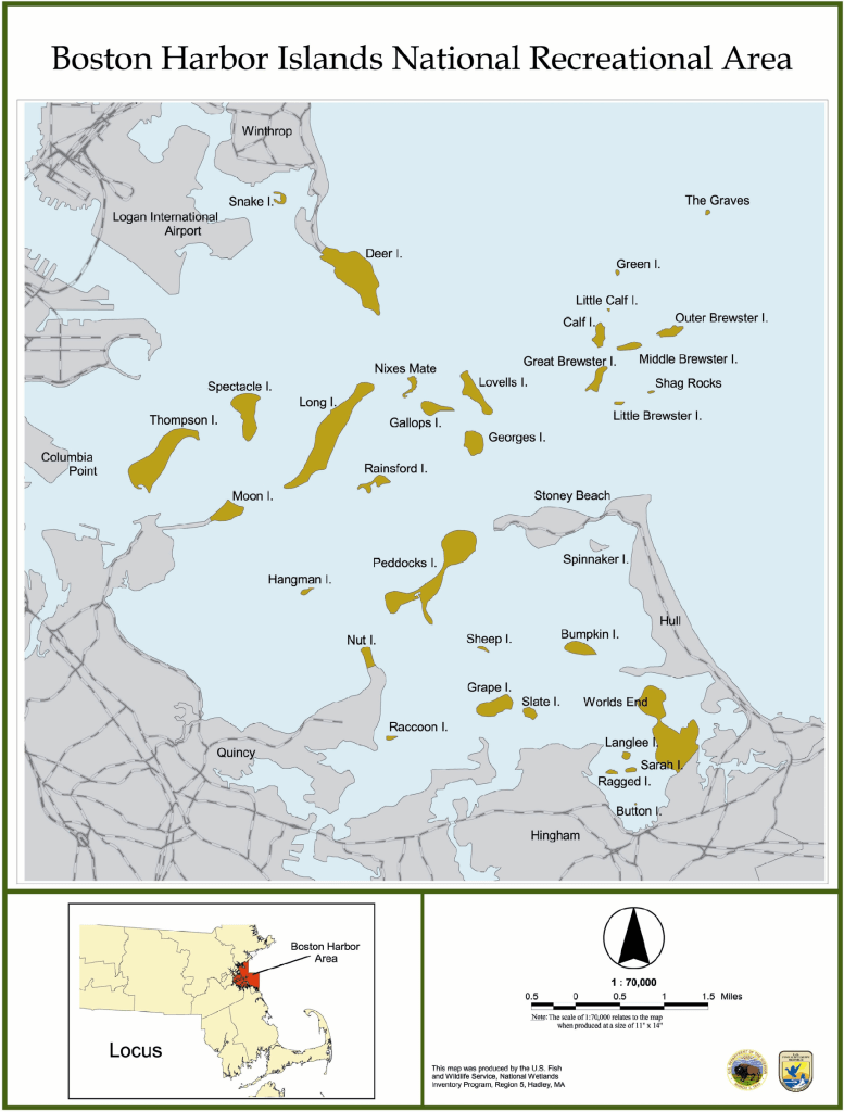 Map of Boston Harbor Islands