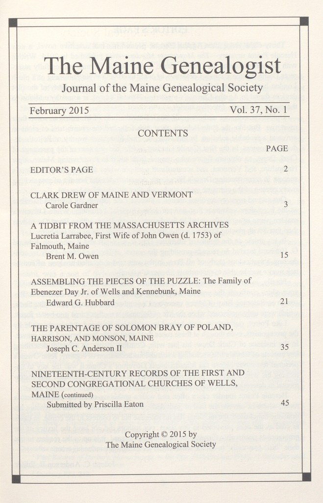 Picture of Table of contents (page 1)