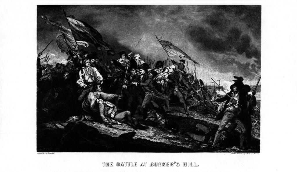 Engraving of a battle scene