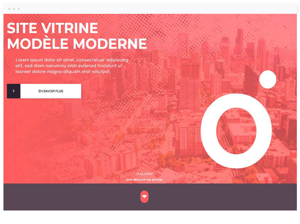 Modèle de site vitrine : Entreprise - DBNG agence web