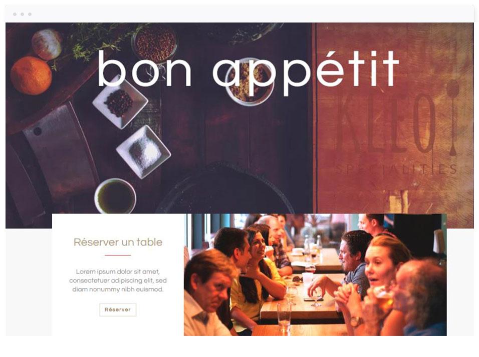 Modèle de site vitrine : Restaurant - DBNG agence web