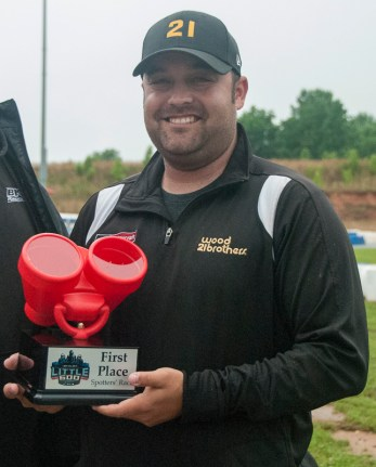 Josh Williams, spotter for Ryan Blaney, won the Spotters Division race. (David Boraks photo)