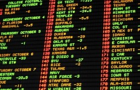 college football odds board