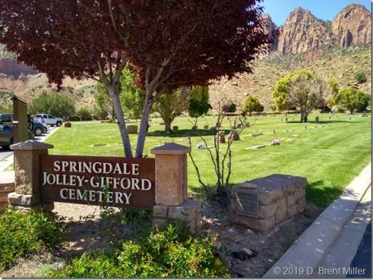 Springdale, Utah, cemetery