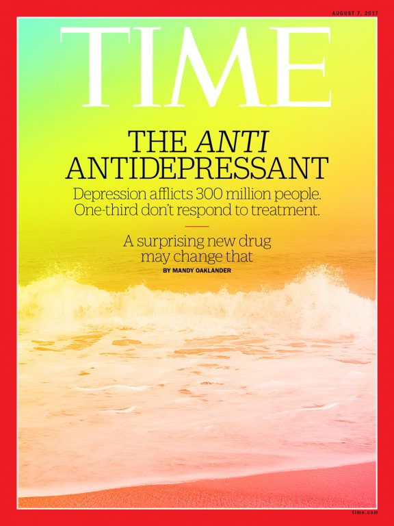 Time Magazine Ketamine, depression article. 2017