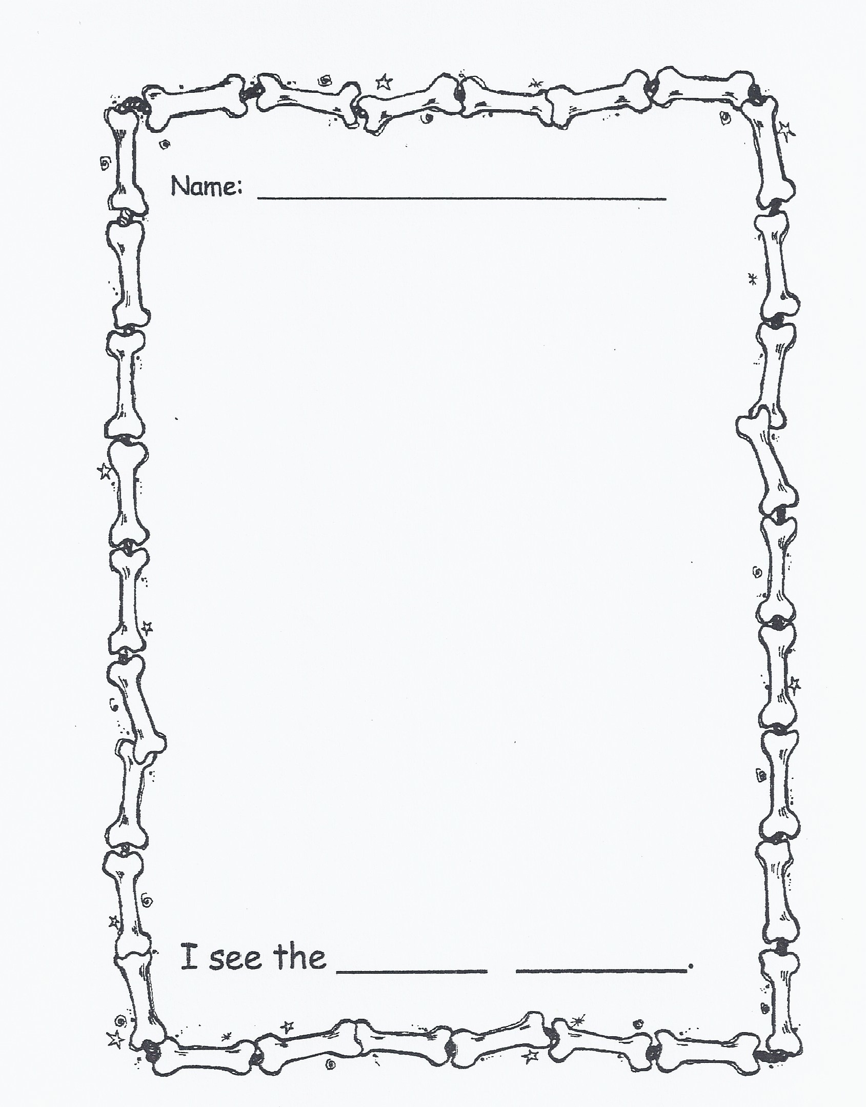 Kindergarten Writing Paper With Picture Box