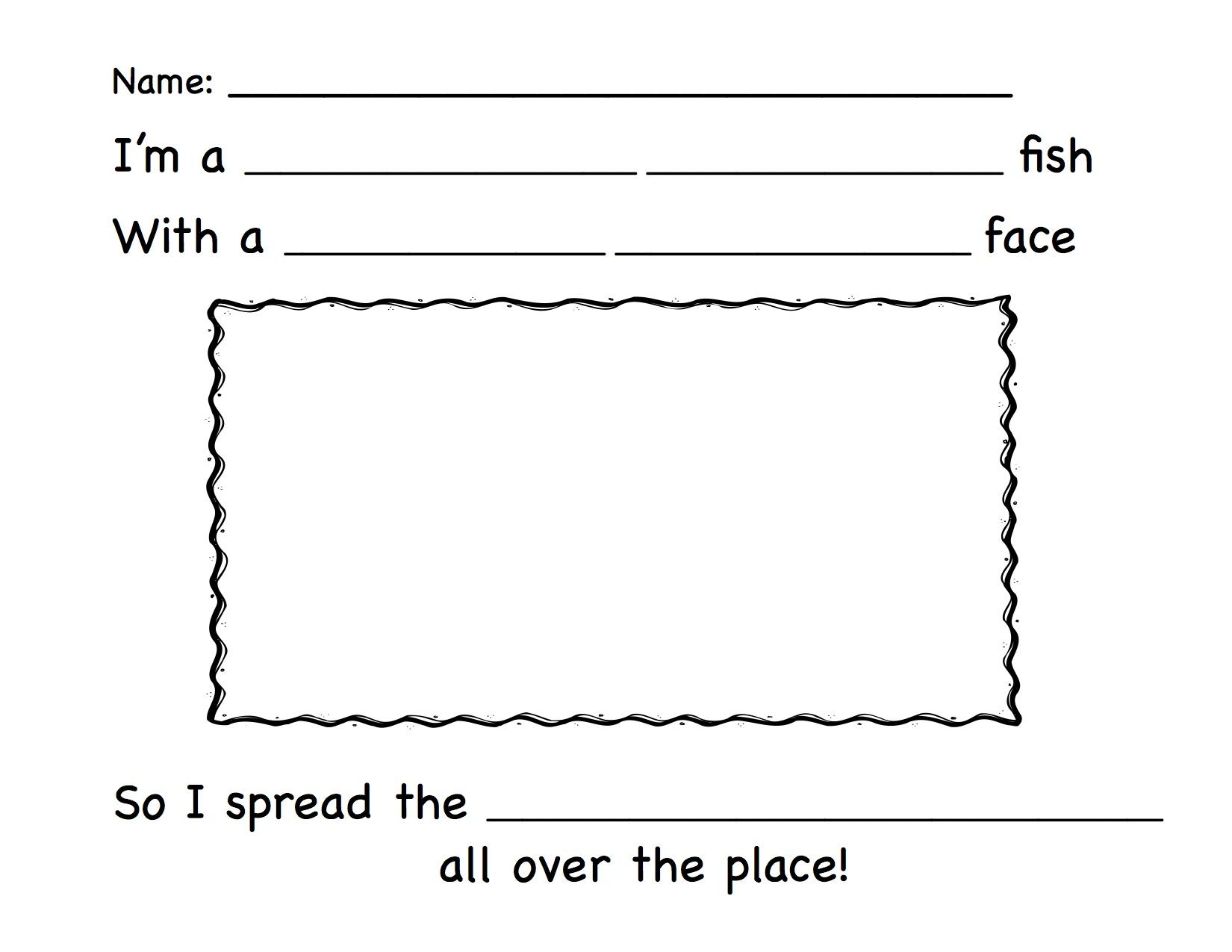 Eced The Pout Pout Fish The Pout Pout Fish Activity