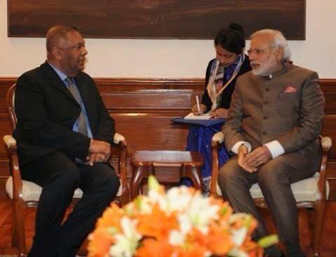 Foreign Affairs Minister Mangala Samaraweera – meets Prime Minister Narendra Modi