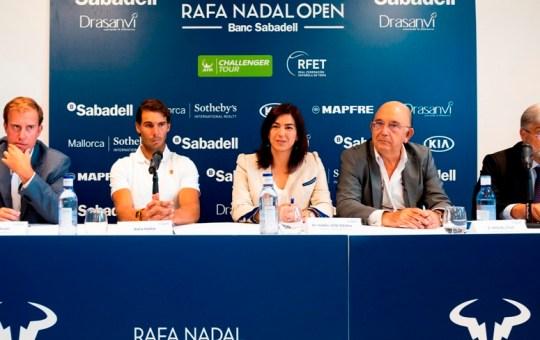 Presentación del Torneo Rafa Nadal Open Banc Sabadell.