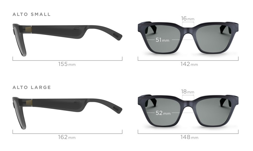 Bose Frames Sizes