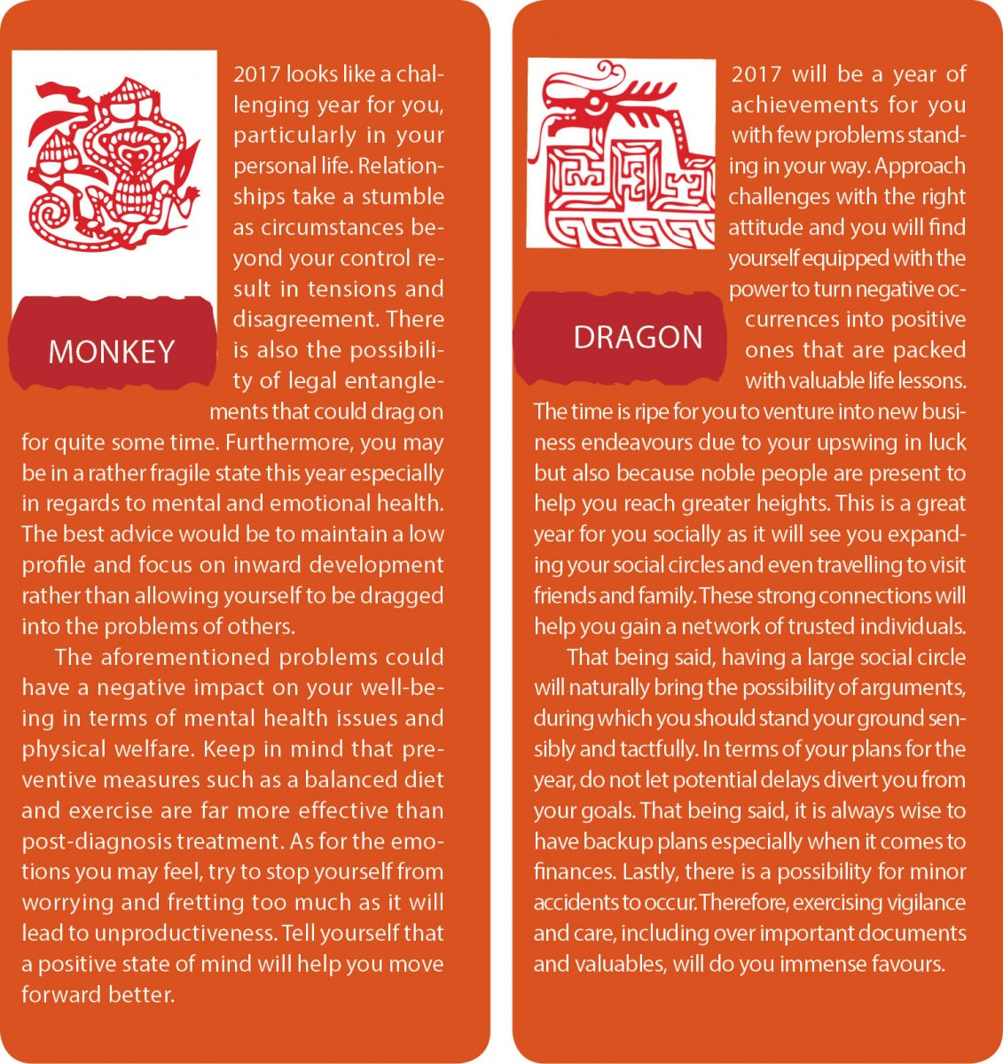 Monkey and dragon