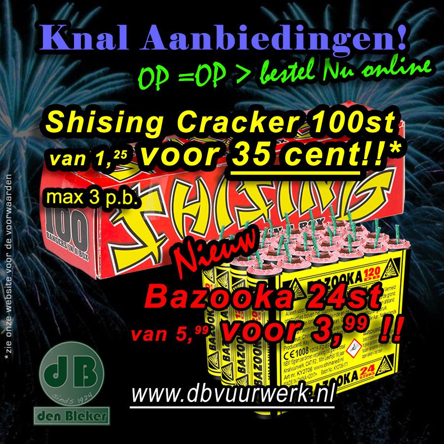 100 Shising Crackers voor maar 35 cent
