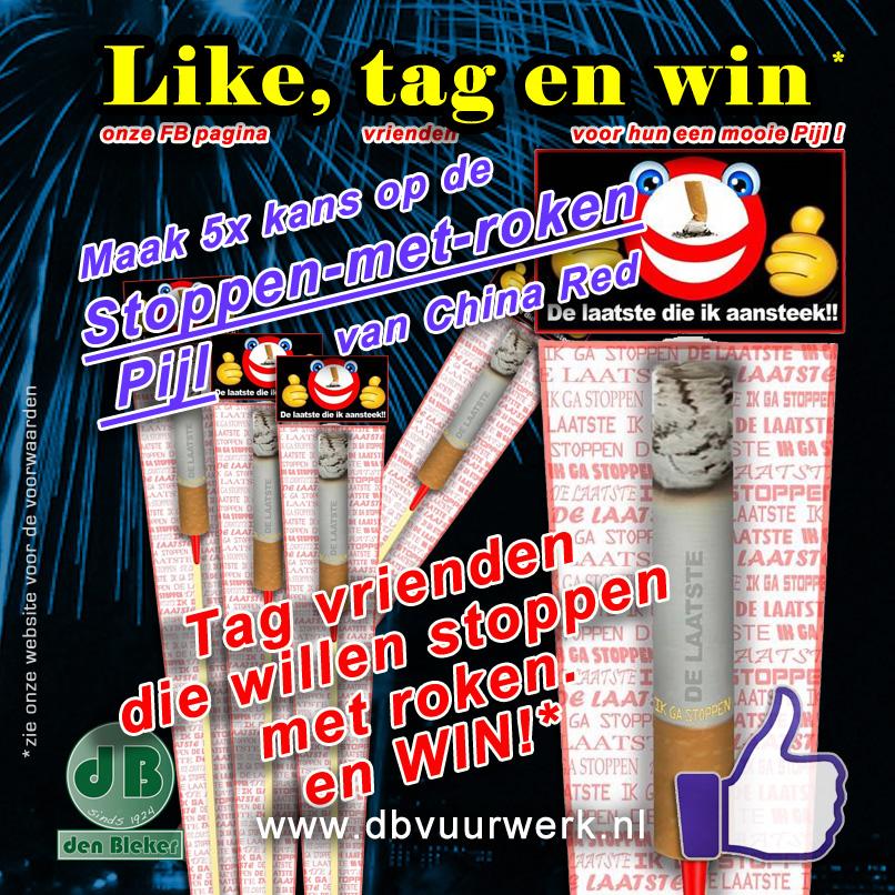 Stoppen met roken pijl win-actie