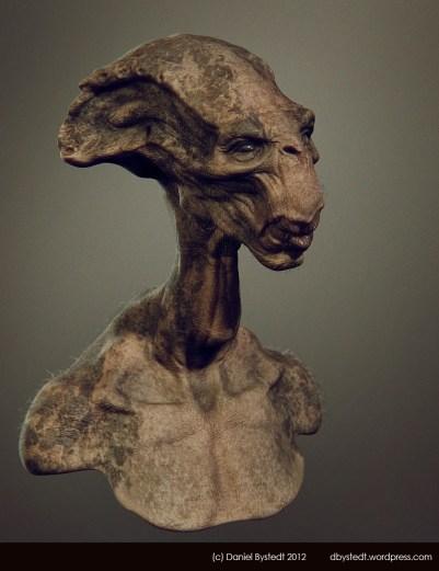 alien long face render 2