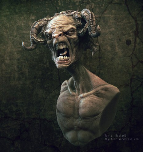angry faun side render