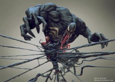 venom & spider-man front render