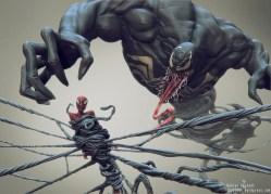 venom & spider-man side render