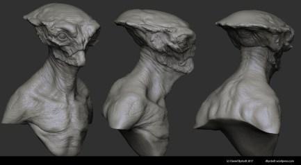 alien bust zbrush