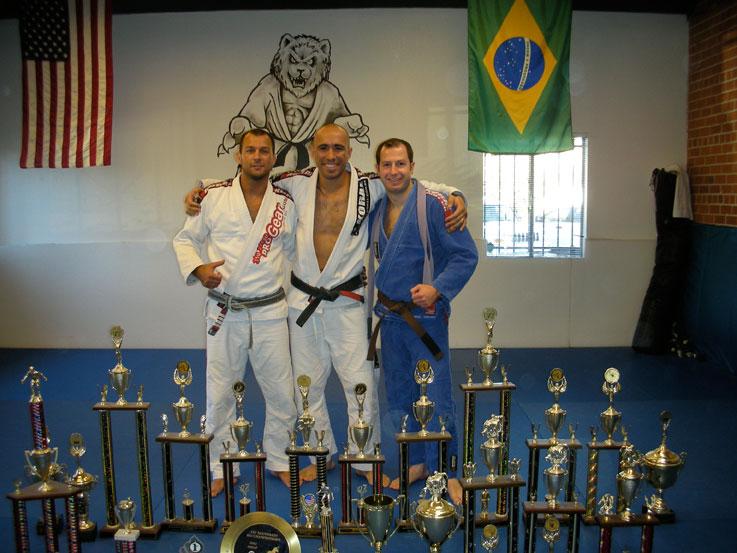 Dimitri's brown belt promotion with Demetrius Ramos and Rodrigo Medeiros Nov 2008