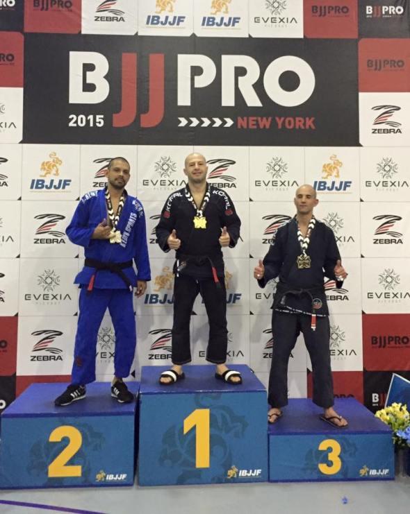 Dimitri winning the gold medal at NYBJJPRO