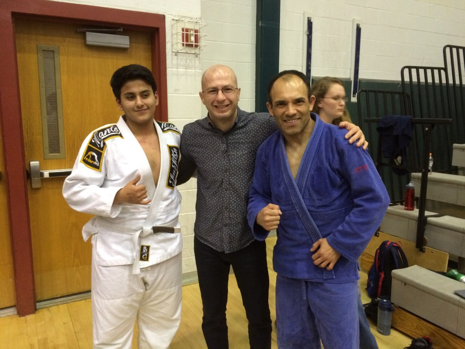Dimitri with medalists AJ (on the left) and Joaquin (on the right)