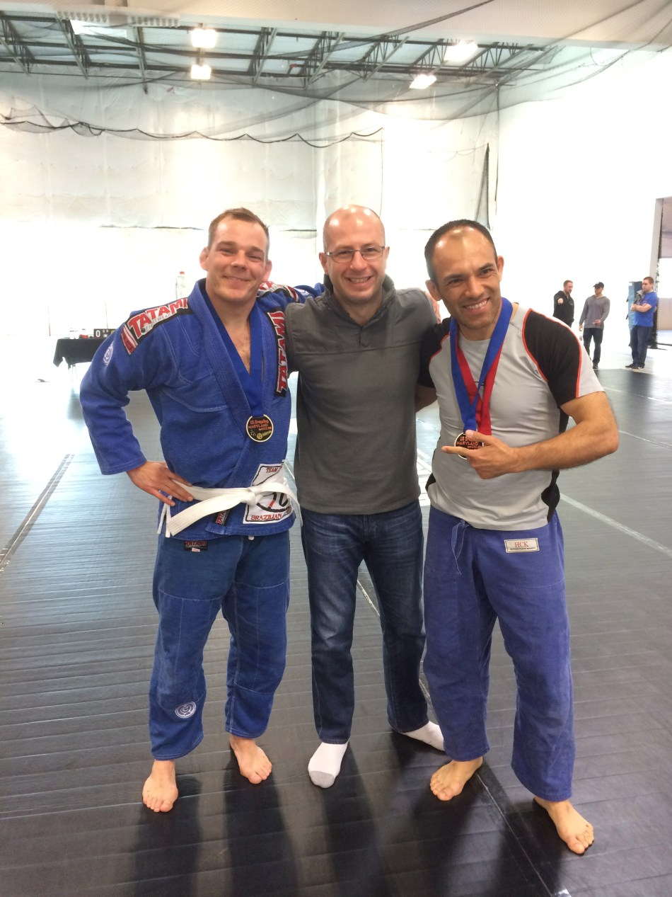 Dimitri with the champions Stilring (L) and Joaquin (R)