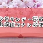 【考察有】サンデー4・5合併号『名探偵コナン』FILE1025「大人びてる子」感想・ネタバレ