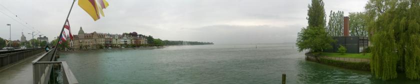 Panorama Rheinbrücke Konstanz, Blick Norden bis Osten
