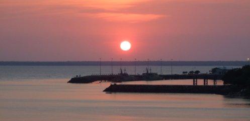 Sonnenuntergang in Darwin. Dauert nicht lang.