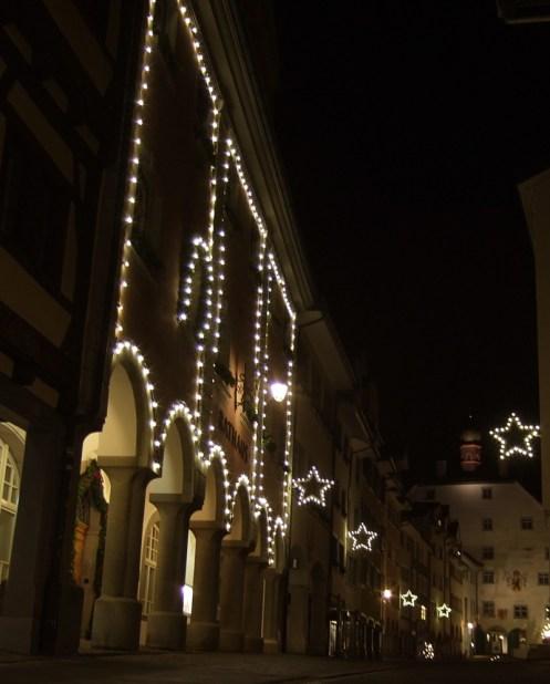 Wiler Altstadt so gegen 21:15 Uhr an einem Donnerstagabend.