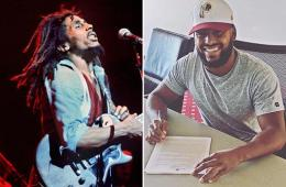 Nico Marley, the grandson of legendary singer Bob Marley, signs with the Washington Redskins.