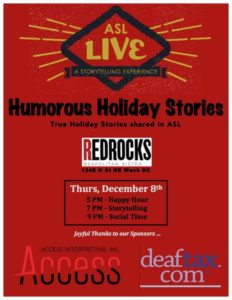 ASL LIVE HOLIDAY FLYER