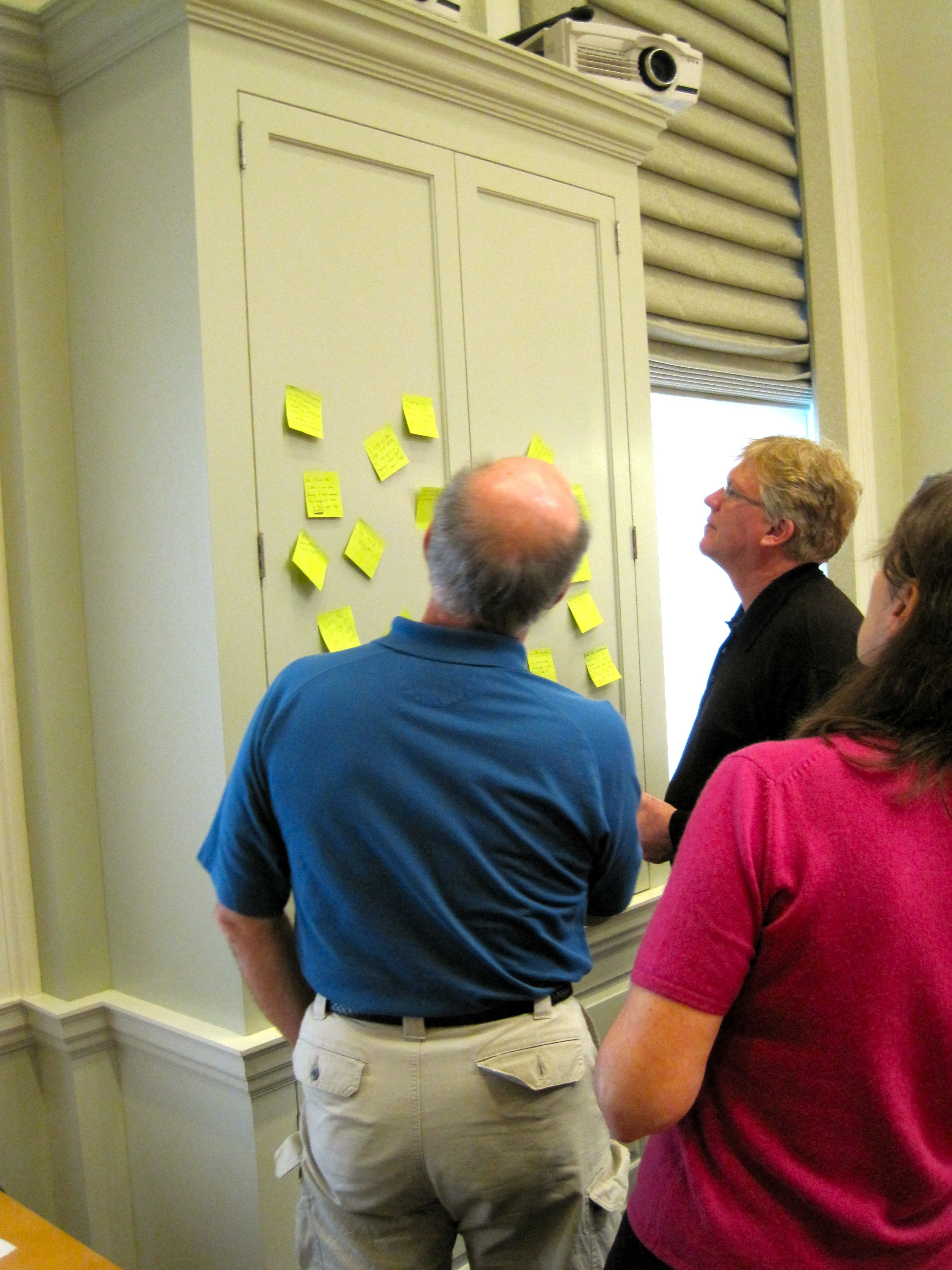 """Attendees examining self-described evidence of """"learning"""""""