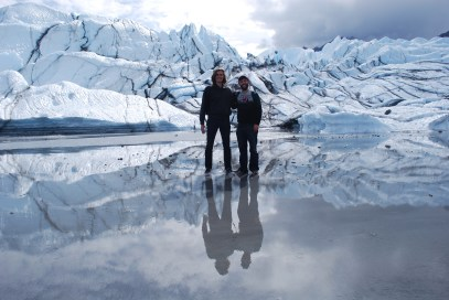 Luke and I at the Matanuska Glacier, Alaska