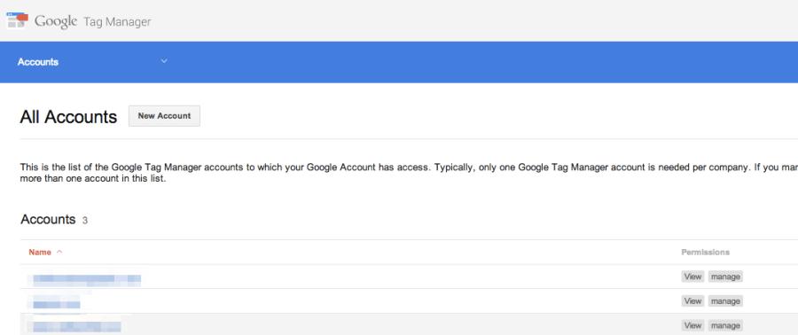 Ora possiamo creare un nuovo account su Google Tag Manager per installarlo su WordPress