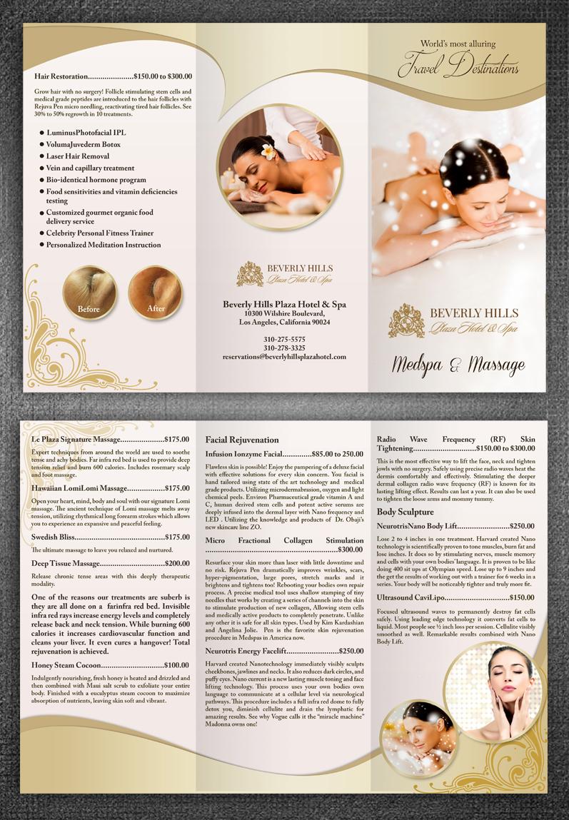 Upmarket Elegant Massage Brochure Design For Le Plaza