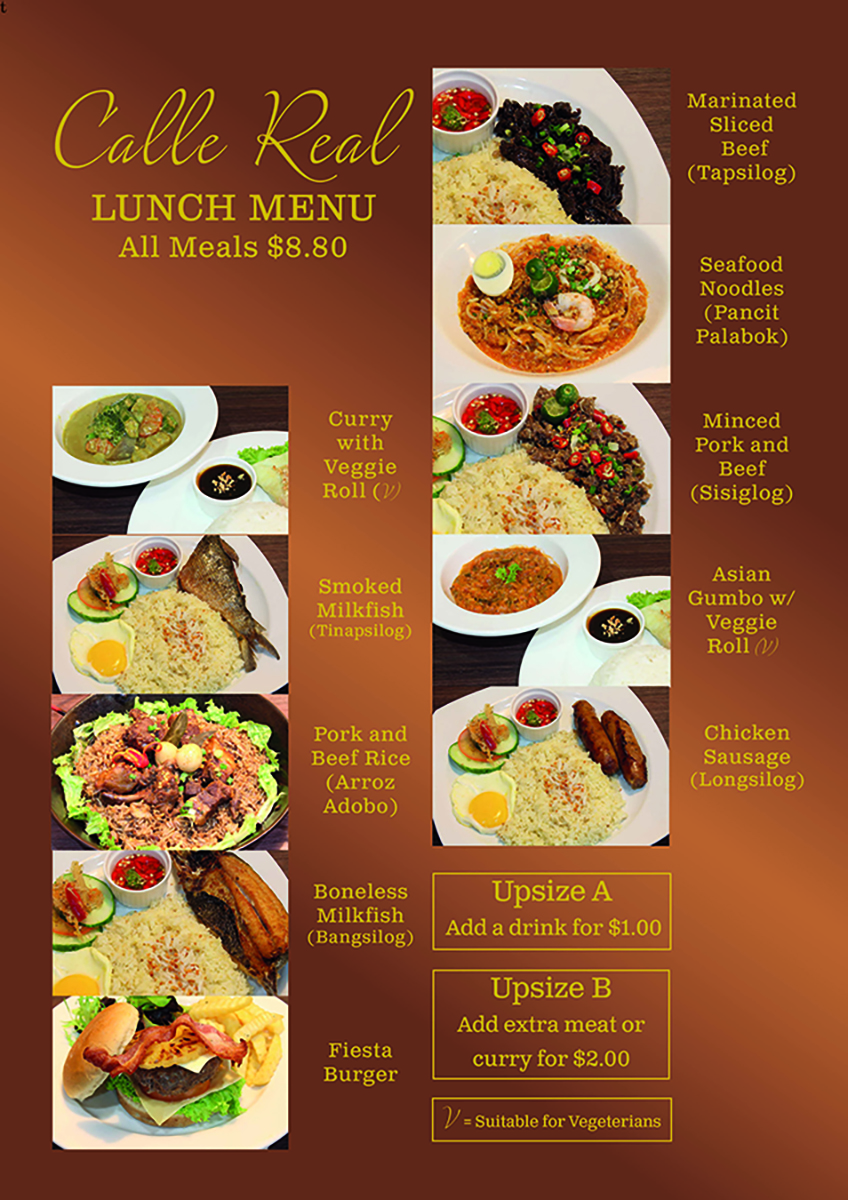 Lunch Menu Restaurant Ideas