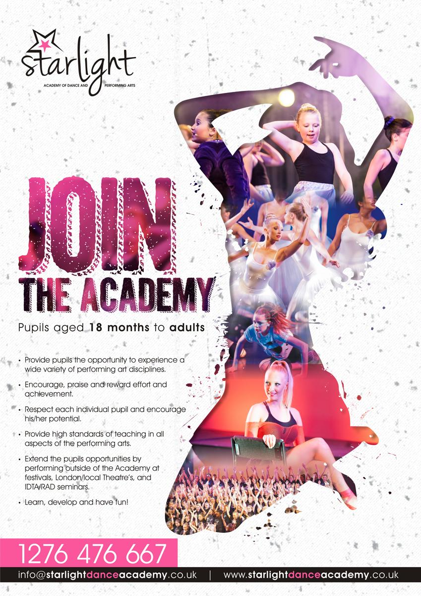 Elegant Playful Dance Studio Flyer Design For Starlight