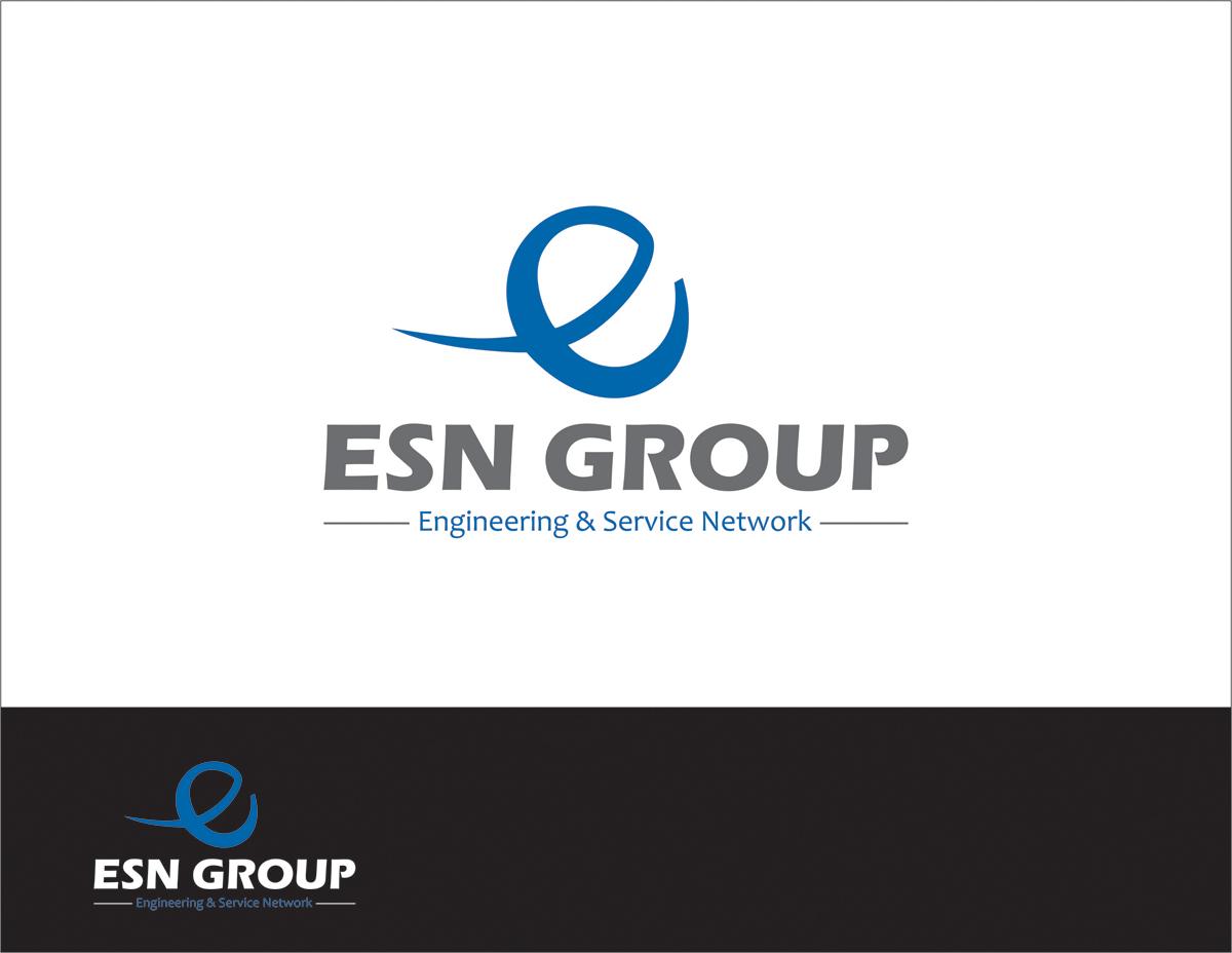 Modern Colorful Engineering Logo Design For Esn
