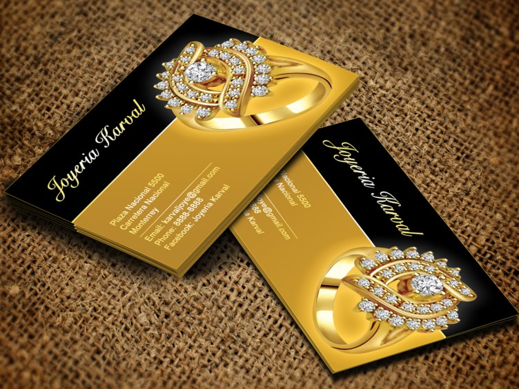 Serious, Conservative, Jewelry Store Business Card Design ...
