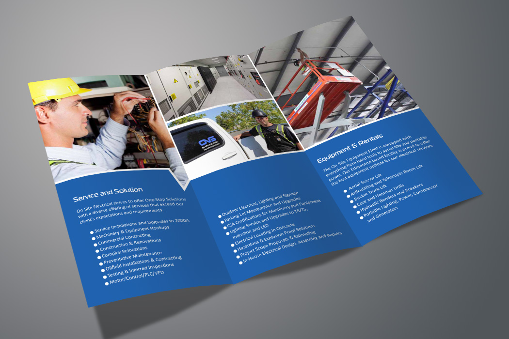 Bold Serious Electrical Brochure Design For Source