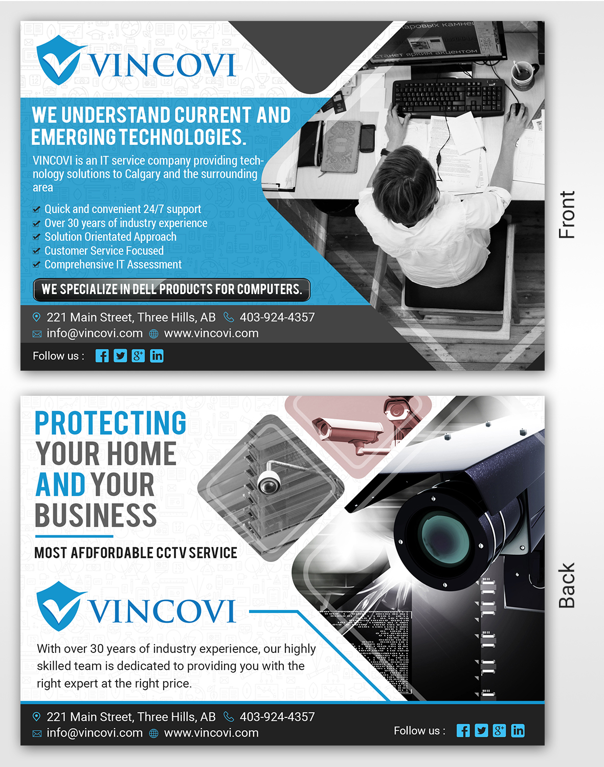 Modern Playful Computer Repair Flyer Design For VINCOVI