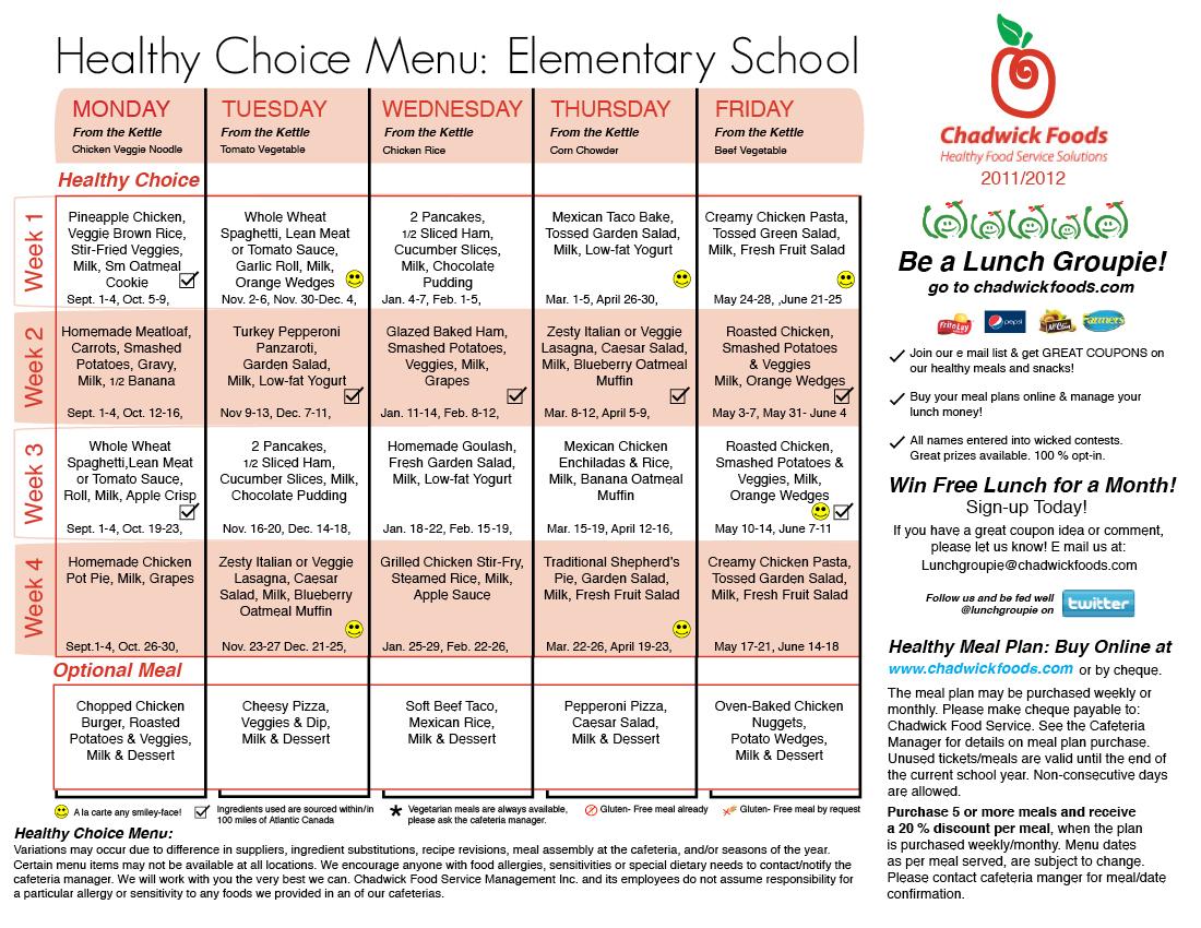 School Meals Online Menu