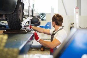 DC Autos Overton Garage checking wheel alignment