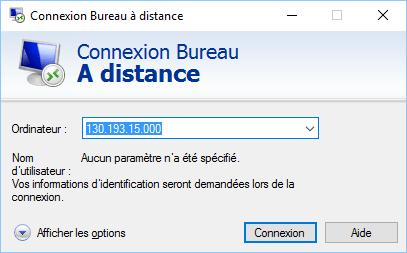 La connexion au serveur DcCloud