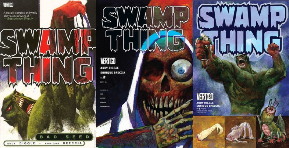 Andy Diggle took Swamp Thing back to his roots... sorry