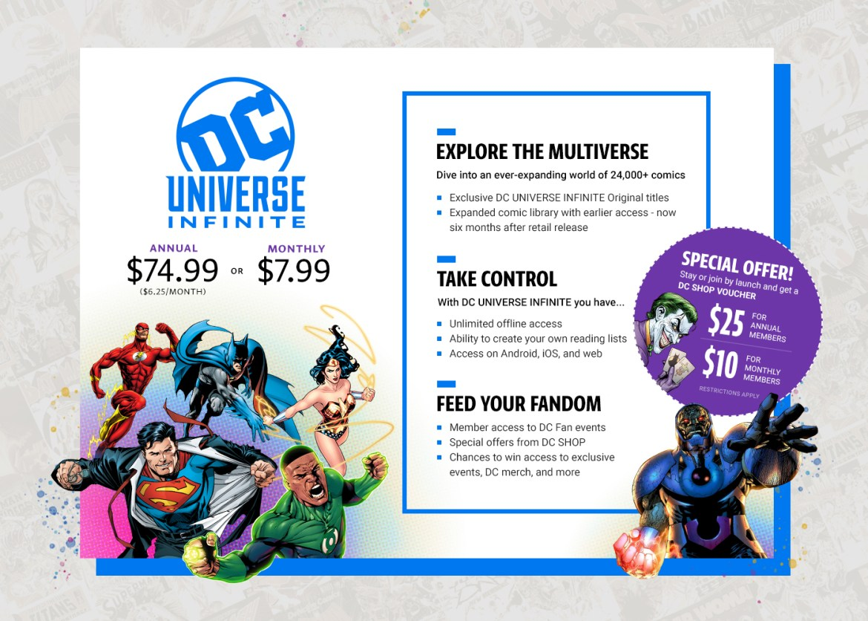 DC Universe Infinite Pricing
