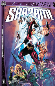 Review: Future State: Shazam #1-Cover-Shazam-puncing-upward-striking-a-demon-DC Comics News Reviews