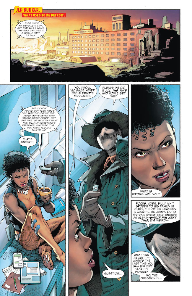 Vixen and The Question have questions for Shazam-DC-Comics-News-Reviews
