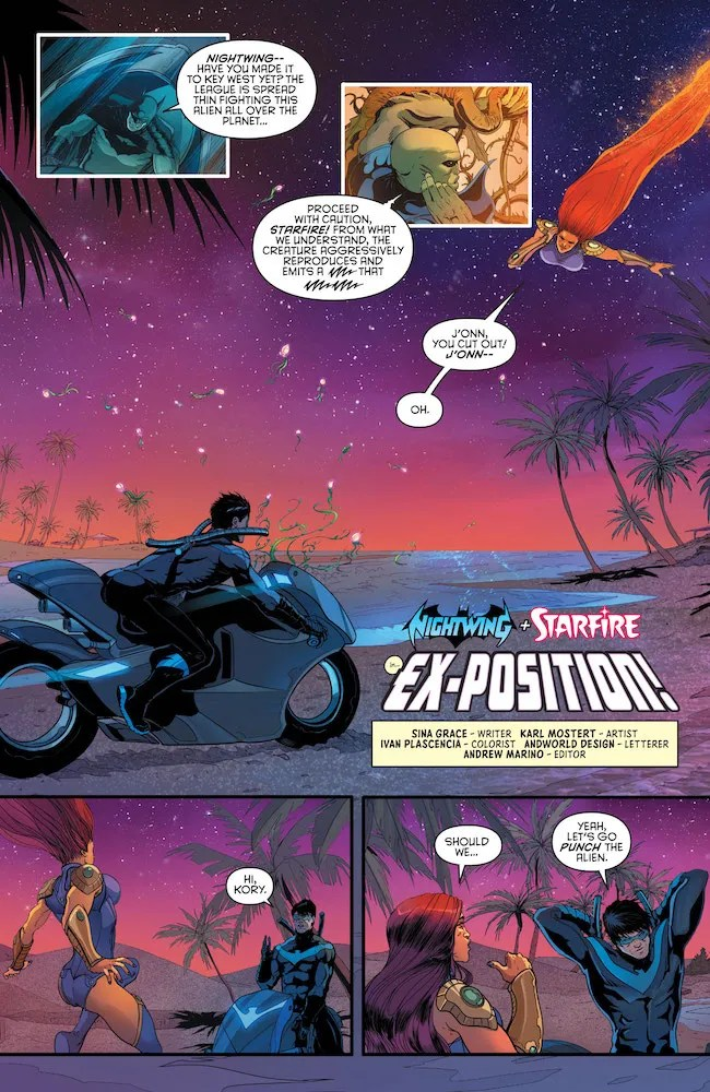 Review-Love-Is-A-Battlefield-#1-Ex-Position-Starfire-Nightwing-DC-Comics-News-Reviews